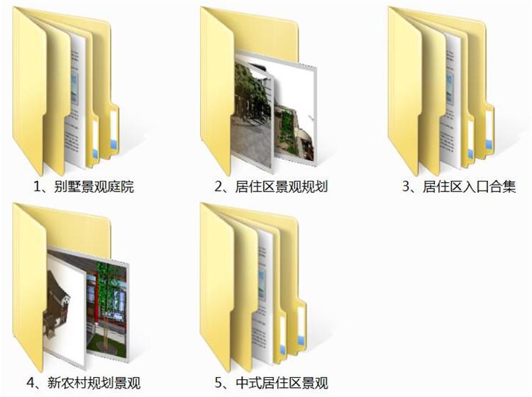 02居住区景观SU模型