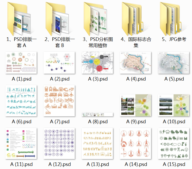 02景观分析图PSD分层素材1