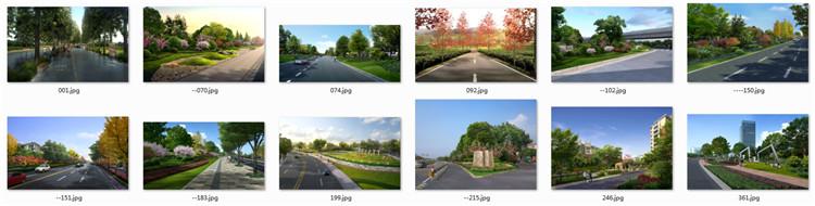 02道路绿化设计PSD效果图1