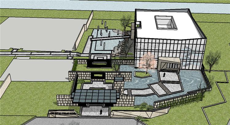 03售楼部景观SU模型2