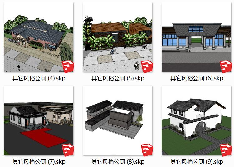 03景区厕所SU模型1