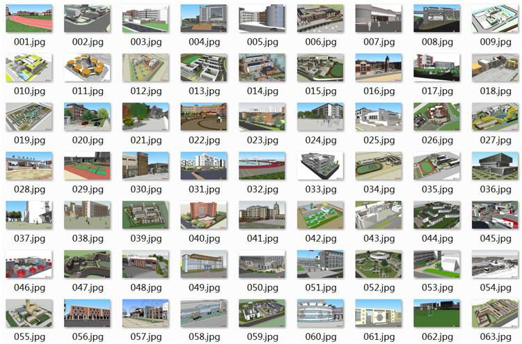 04大学校园景观SU模型文件1