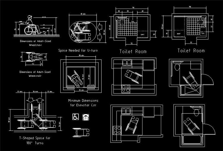 04无障碍卫生间CAD图纸