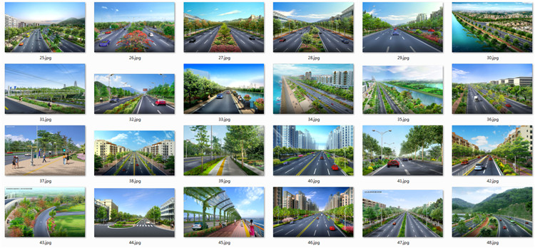 04道路绿化设计PSD效果图3