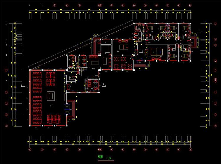 04食堂室内设计平面图