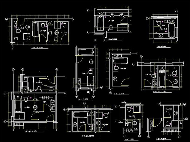 05厕所CAD平面图