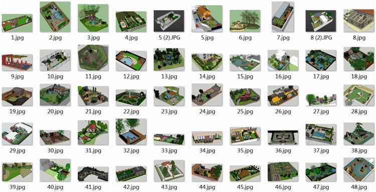 05屋顶花园庭院SU模型文件