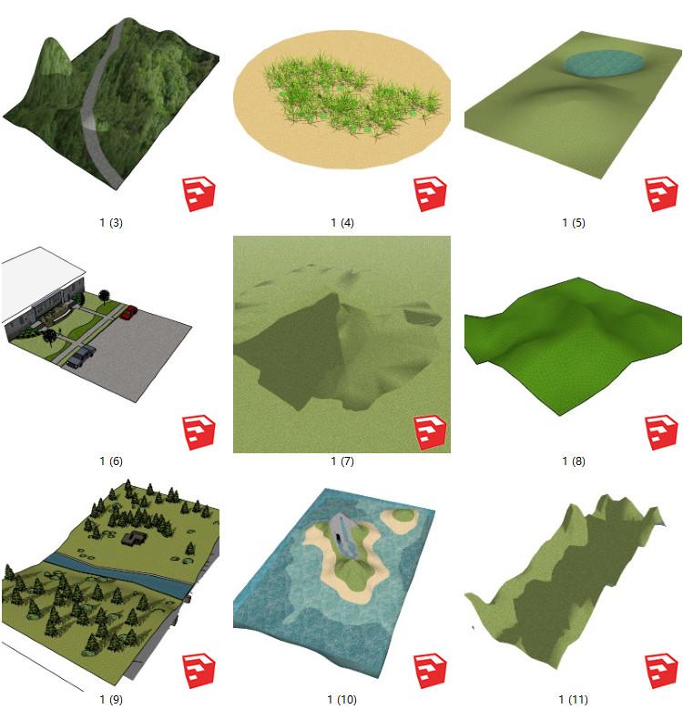 05山石山地的SU模型设计