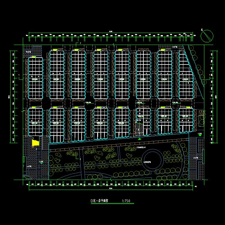 05建材市场设计cad方案图