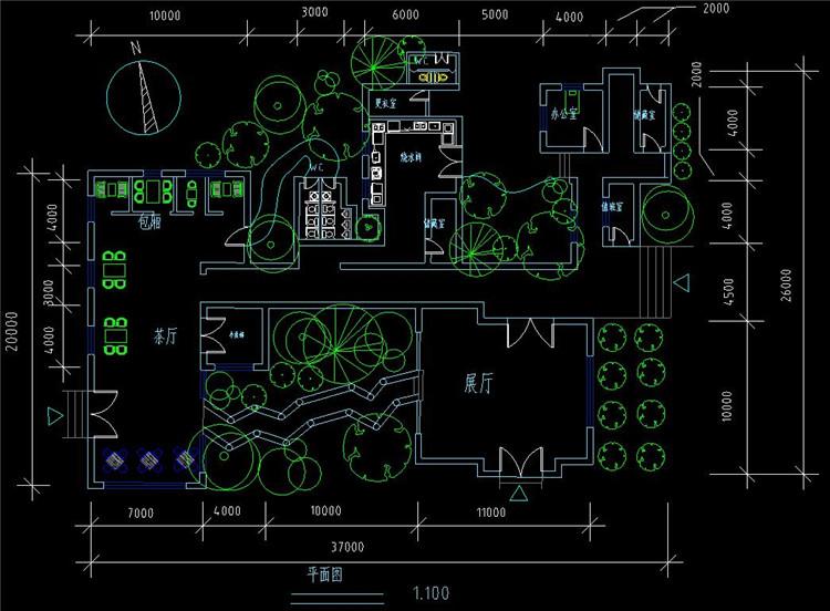 05日本茶室平面图