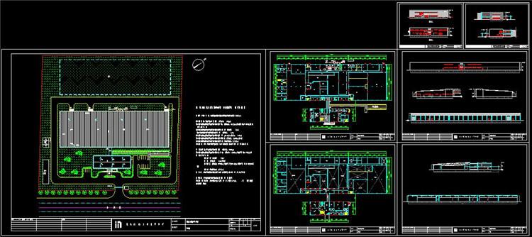 05机械厂房CAD全套图纸