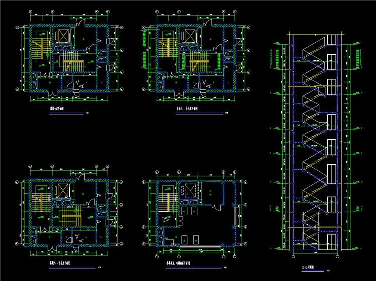 05楼梯CAD施工图纸