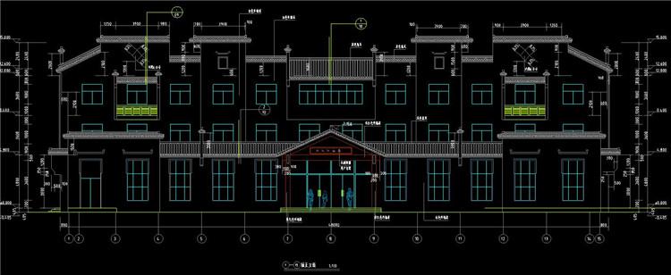 06三层现代徽派宾馆建筑施工图