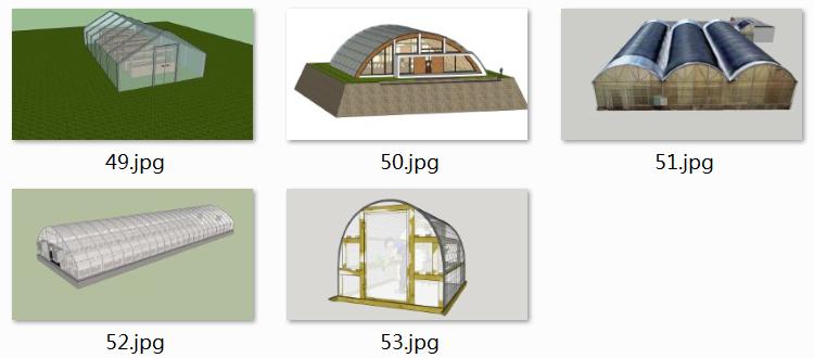 06农业阳光棚SU模型3