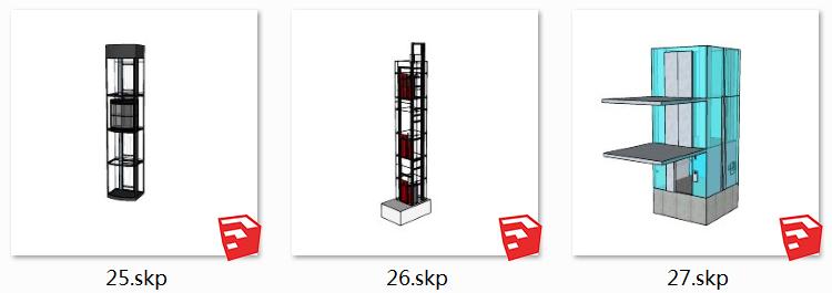 06升降梯SU模型2