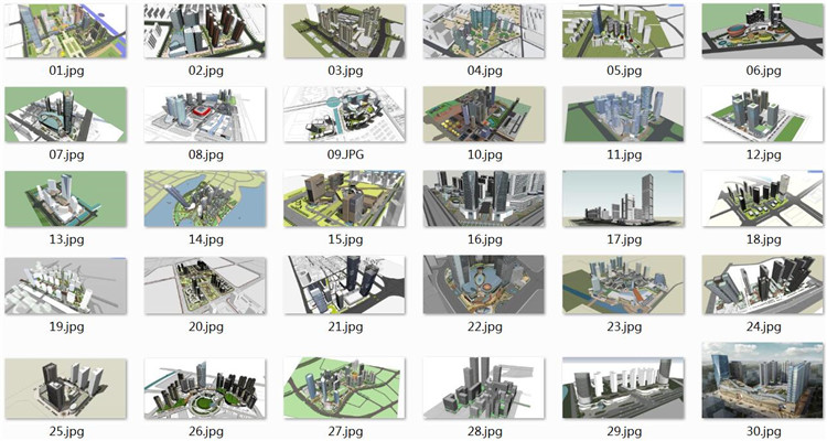 06商业综合体SU模型文件