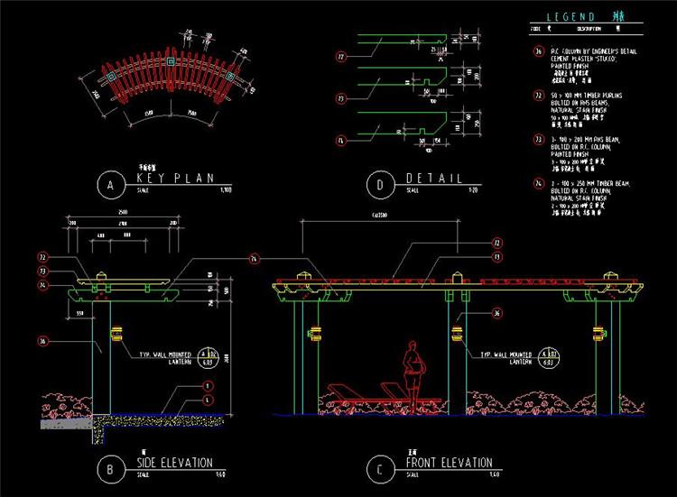 06园路栈道CAD图纸