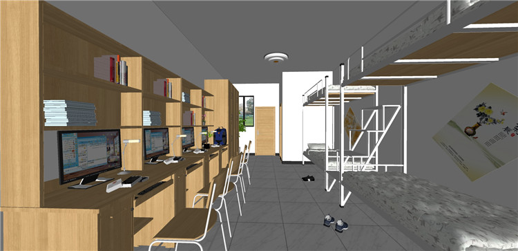 06学生宿舍SU模型