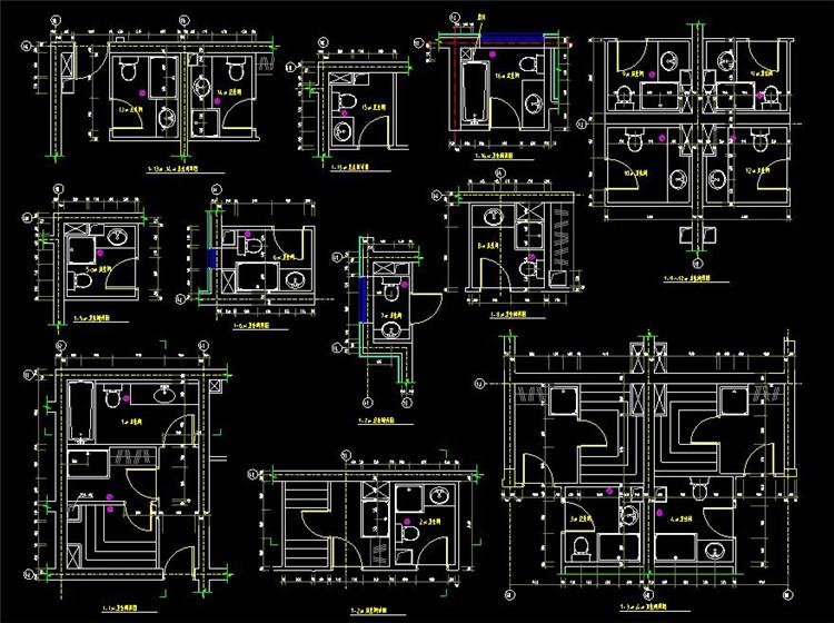 06小卫生间平面布置方案