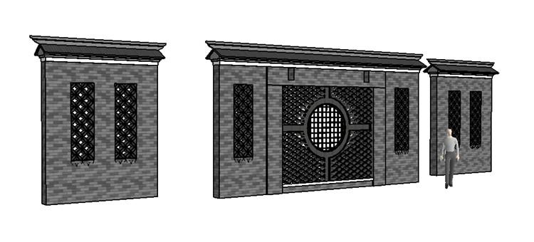 06景墙SU模型4