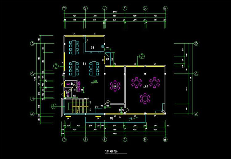 06某宿舍餐厅施工图