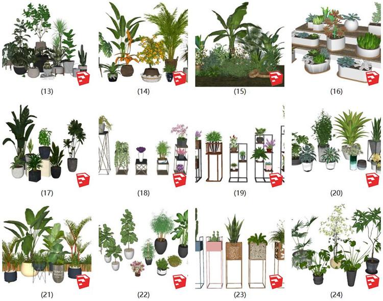 06植物盆栽SU模型2