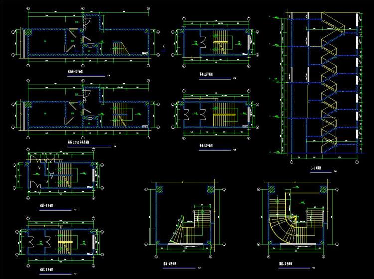 06楼梯CAD平面图