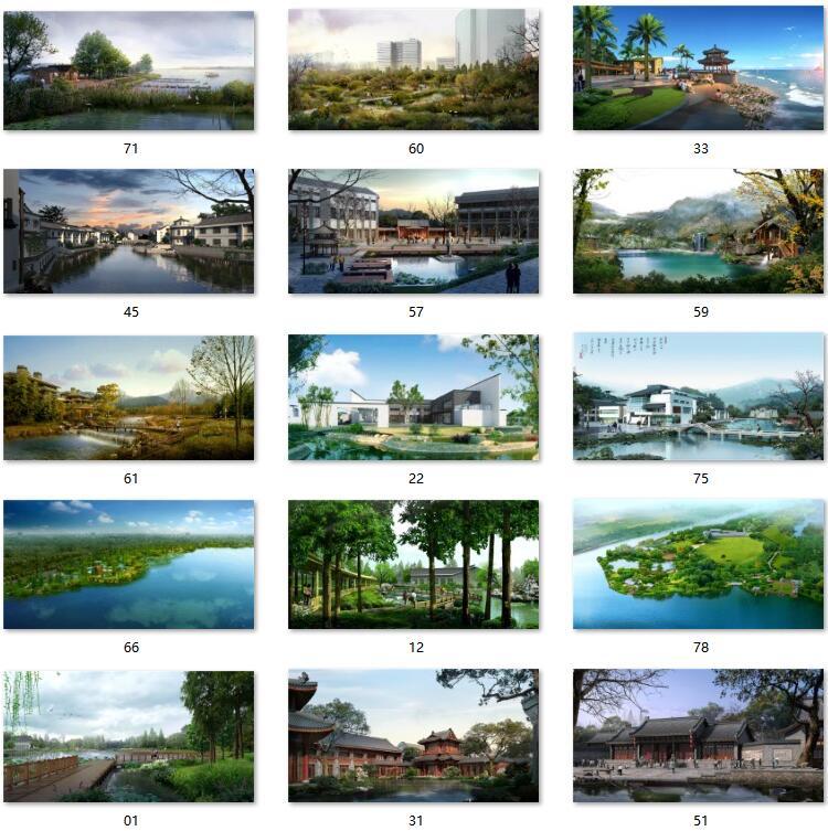 06滨水园林效果图