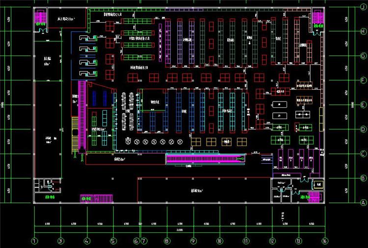 06超市建筑平面图