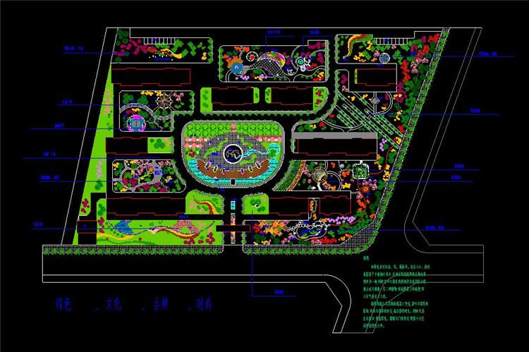 07中心广场景观设计总平面图