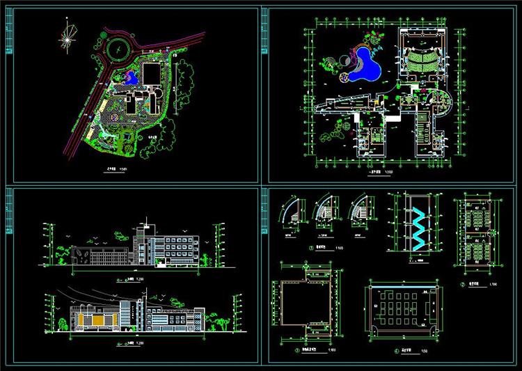 07五层某高校艺术中心设计图