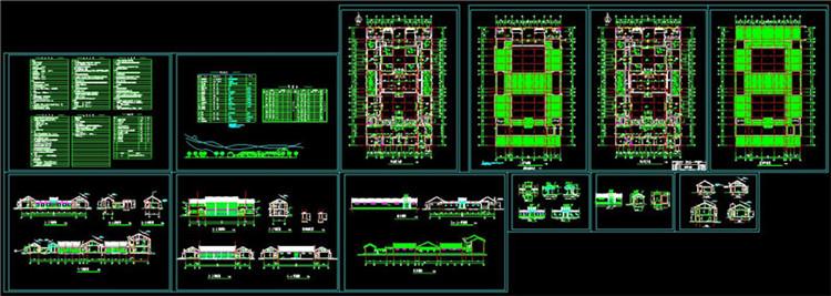 07全套中式四合院CAD施工图纸1