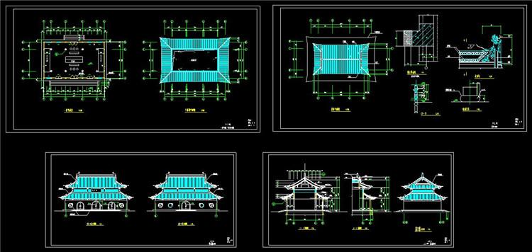 07宝塔寺庙CAD图纸1
