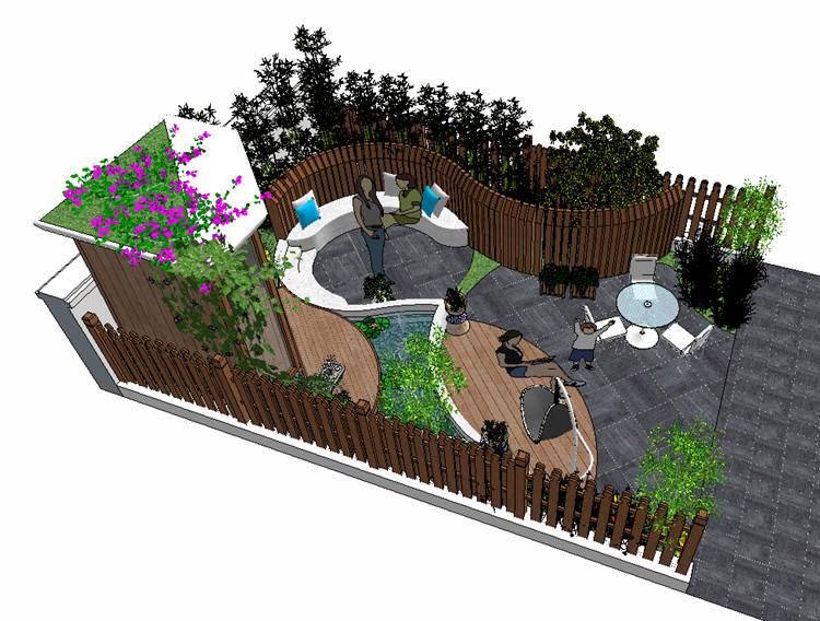 07庭院花园SU模型文件5