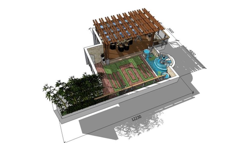 07庭院SU模型