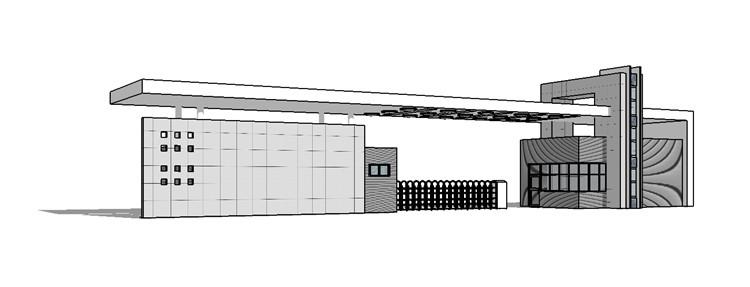07现代大门SU模型6