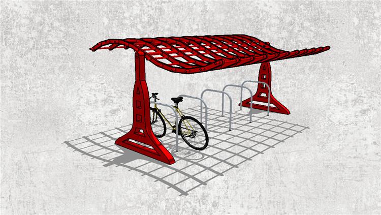 07自行车棚SU模型5