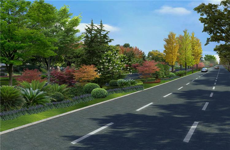 07道路景观效果图