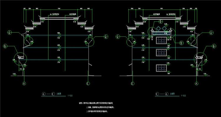 08三层徽派民居建筑施工图