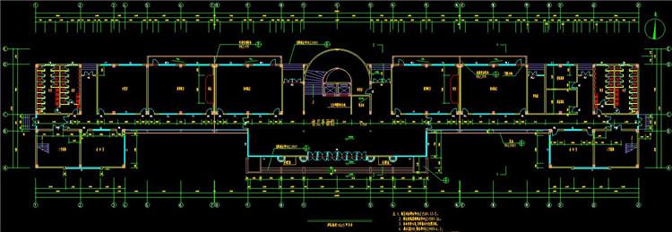 08三层教学楼CAD图纸