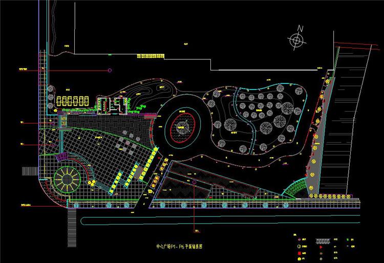 08中心广场景观设计平面图