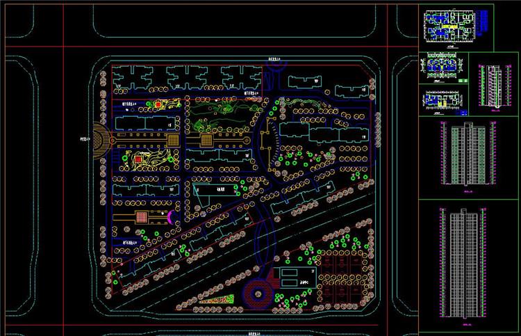08住宅总平面图