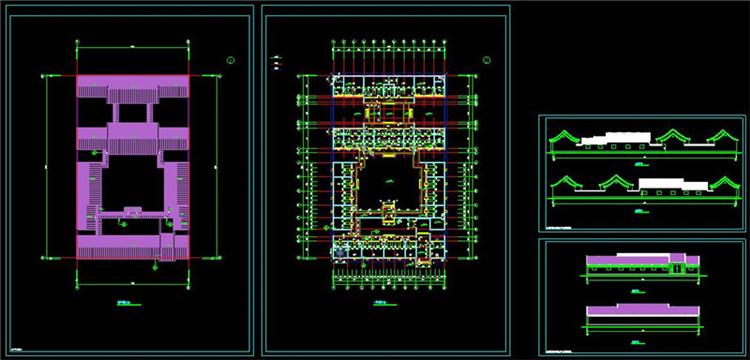 08全套中式四合院CAD施工图纸2