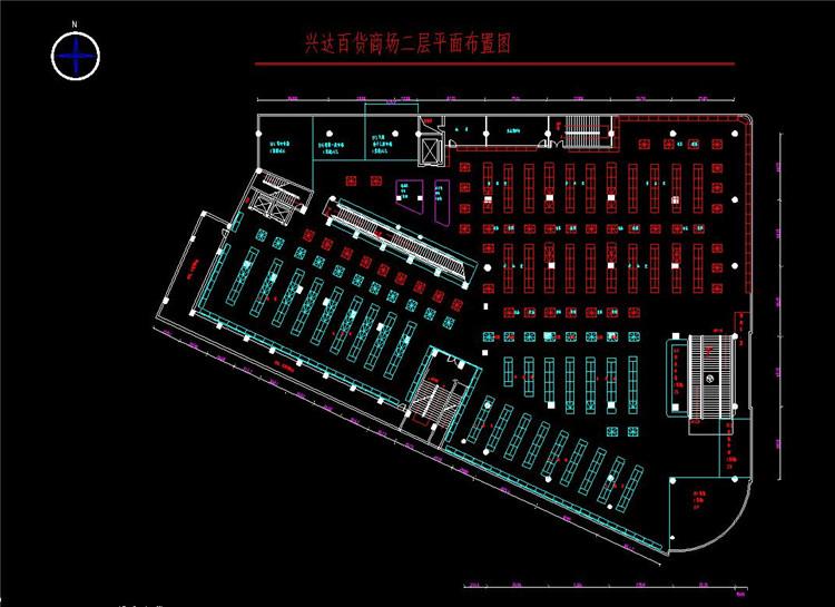 08商业广场平面布局图