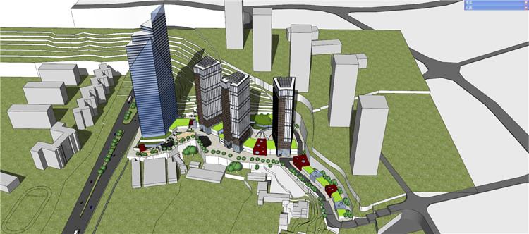 08商业广场SU模型文件