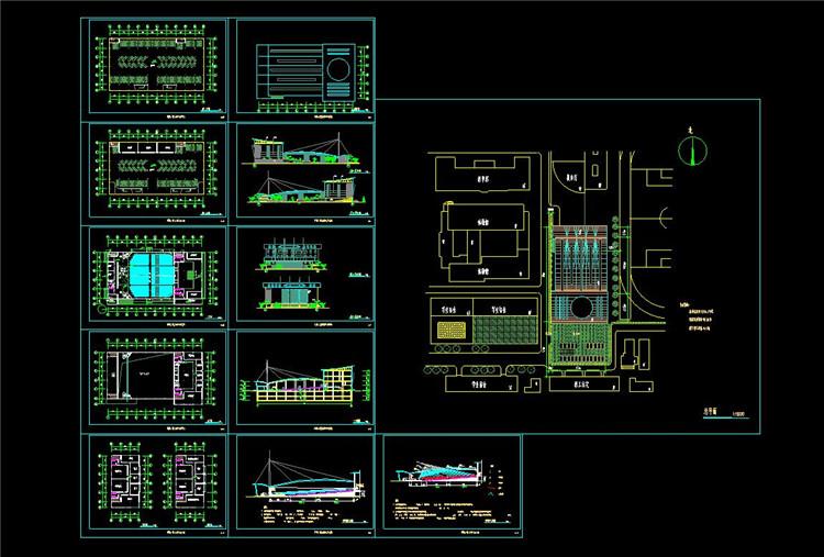 08四层地下一层某学院学生活动中心建筑设计图