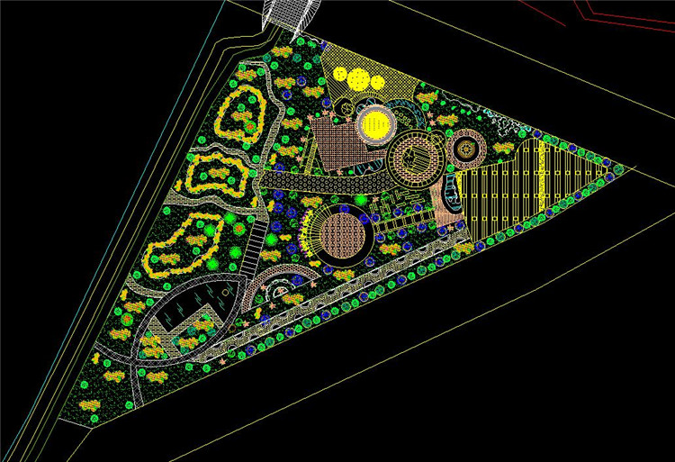 08城市公园CAD平面图