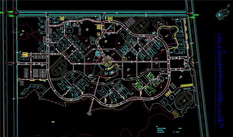08大学教学楼CAD总图