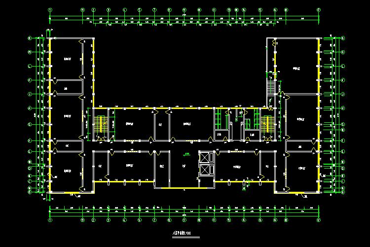 08学校综合楼全套建筑图