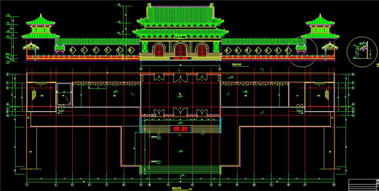 08宝塔寺庙CAD图纸2
